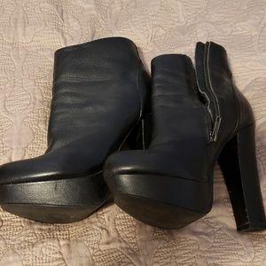 Steve Madden Leather Zippered High Heel Bootie, 7